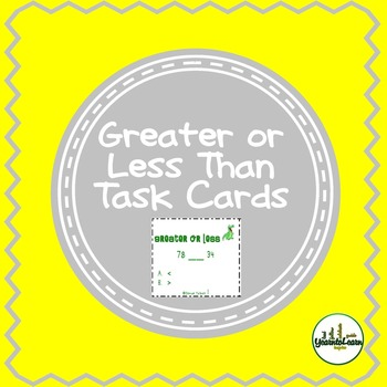 Greater or Less Than Number Sense Task Cards