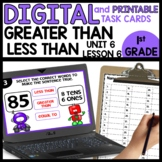 Greater than Less Than | DIGITAL TASK CARDS | PRINTABLE TA