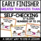 Greater than Less Than (Early Finisher PPT)