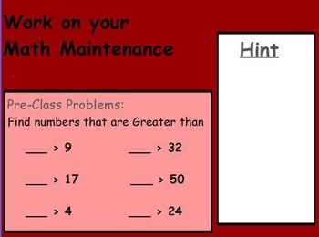 Basic Math Skills - Greater than Less than; < > = (worksheet inc) (ACTIVE BOARD)