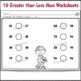 Greater than Less than Differentiated Worksheets
