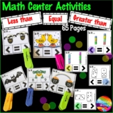 Greater than, Less than Activities Printable Kinder and Grade 1 Math Centers