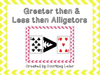 Greater than, Less than Alligators