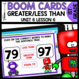 Greater than Less than BOOM CARDS | DIGITAL TASK CARDS | M