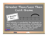 Greater than? Less than? Card game with Number Lines!