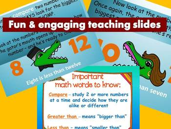 Greater than - Less than -  Common Core Math - Smartboard Activity