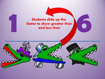 Greater than - Less than - Comparing Numbers 1-10 CCSS - Smartboard Activity