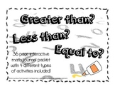 Greater than, Less than, Equal To... Kindergarten Math Journal Packet