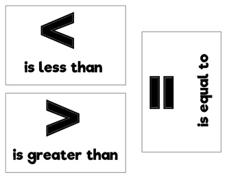 Greater than, Less than, Equal to Center
