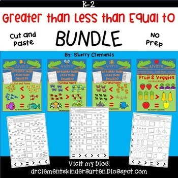 Greater than Less than Equal to Printables BUNDLE