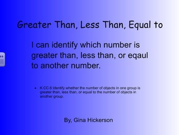 Greater than, Less than, Equal to SMARTBoard Game