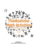 Greater than / Less than Math Turkey Day Activities