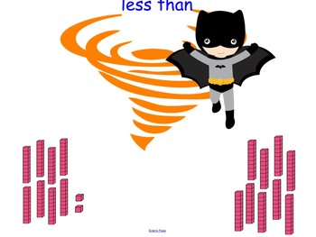 Greater than - Less than - SUPER HEROES! - 2-DIGIT - Smartboard - CCSS Aligned