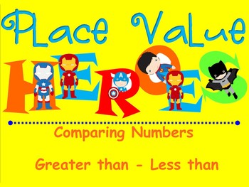 Greater than - Less than - SUPER HEROES! - 2-DIGIT - Smart