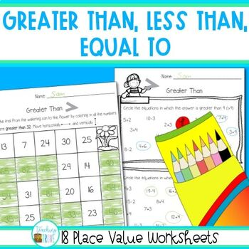 Greater Than Less Than Equal To Worksheets Teaching Resources ...
