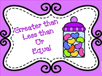 Greater than, Less than, and Equal