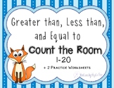 Greater than, Less than, and Equal to Count the Room : 1-20
