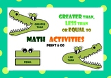Greater than, Less than or Equal to - Math Activities