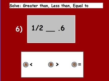 Basic Math Skill-Greater than Less than; < > = (worksheet included) (POWERPOINT)