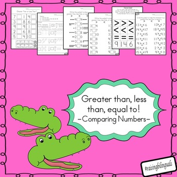 Greater than, less than, equal to (comparing numbers)