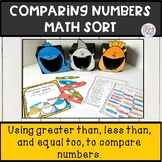 comparing numbers greater than, less than, worksheets and sort