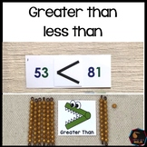 Greater than less than for Montessori