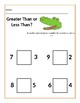 Greater than less than worksheet for Preschool
