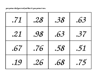Greater than or Less than--A Decimals Game