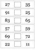 Greater than or Less than Flip Book