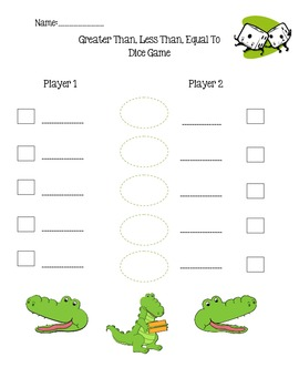Greater/Less/Equal Dice Game