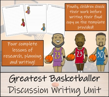Discussion Based Writing Unit - Greatest Basketball Player of the Modern Era?