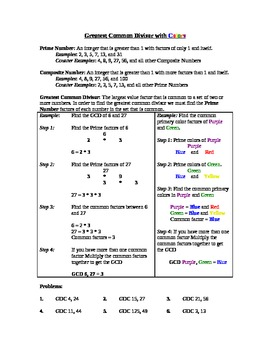 Greatest Common Divisor with Colors