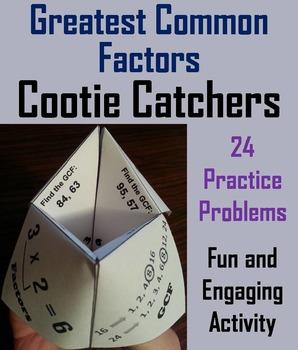 Greatest Common Factor Practice Activity/ GCF Activity 4th 5th 6th 7th Grade