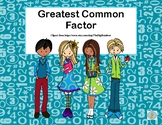 Greatest Common Factor -32 Task Cards -Student Theme