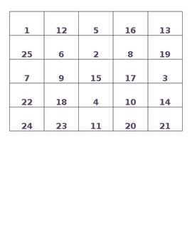 Greatest Common Factor Bingo