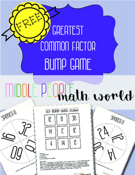 Greatest Common Factor Bump Game