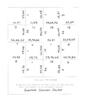Greatest Common Factor Complete the Square Activity