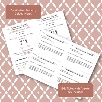 Greatest Common Factor & Distributive Property - INB Foldable & Guided Notes