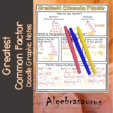 Greatest Common Factor Doodle Graphic Notes