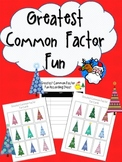 Greatest Common Factor Fun Holiday Game