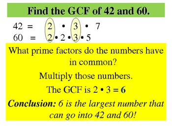 Greatest Common Factor  GCF - CCSS 6.NS.2, 6,NS.3, and 6.NS.4