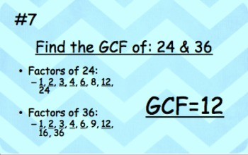Greatest Common Factor (GCF) & Least Common Multiple (LCM) Review