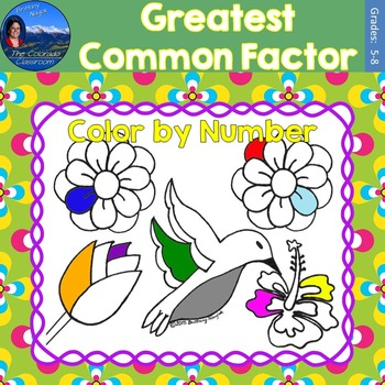 Greatest Common Factor (GCF) Math Practice May Flowers Col