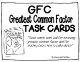 Greatest Common Factor (GCF) Task Cards