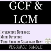 Greatest Common Factor GCF and Least Common Multiple LCM Bundle