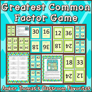 Greatest Common Factor Game