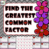 Greatest Common Factor 4th Grade Game