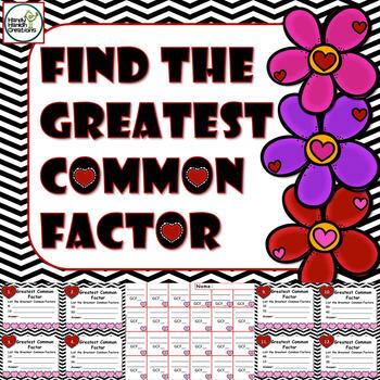 Greatest Common Factor 4th Grade Game