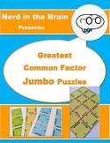 Greatest Common Factor Jumbo Puzzles