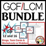 Greatest Common Factor / Least Common Multiple BUNDLE